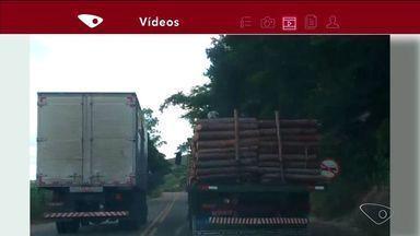 VC no ESTV: motoristas são flagrados cometendo infrações em cidades do Norte do ES - Imagens foram enviadas pelo aplicativo da TV Gazeta.