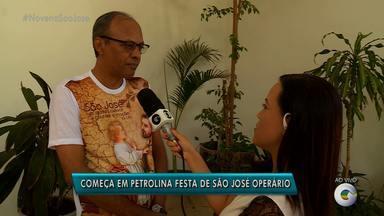 Começa em Petrolina a festa de São José Operário - A festa vai até o dia 1º de maio.