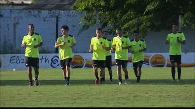 Botafogo-PB não perde tempo e já treina para duelo decisivo contra Atlético de Cajazeiras - Apesar da grande vantagem no mata-mata, ordem na Maravilha do Contorno é respeitar o adversário para confirmar a classificação no domingo
