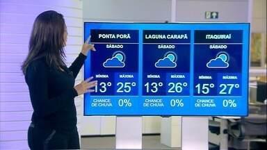 Veja previsão do tempo para o final de semana em MS - Veja previsão do tempo para o final de semana em MS.