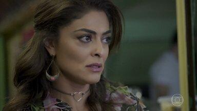 Bibi deixa a palestra de Caio - Advogado provoca a ex-namorada