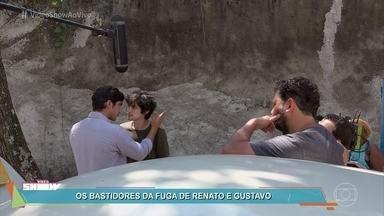 Momentos de pura adrenalina em 'Os Dias Eram Assim' - Confira os bastidores de gravação da perseguição aos irmãos Renato e Gustavo