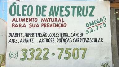 Especialistas alertam para os cuidados no uso do óleo de avestruz - Segundo especialistas, não existem comprovações científicas de que o produto faz bem a saúde.