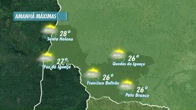 Temperaturas seguem amenas nos próximos dias na região - Veja a previsão no mapa.