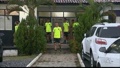 Equipe do Botafogo da Paraíba em ritmo de concentração - Jogadores e comissão técnica estão proibidos de dar entrevistas.O grupo está concentrado para o jogo contra o Treze, na final do Campeonato Paraibano.