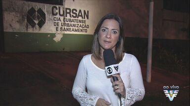 Funcionários da Cursan fazem novo protesto em Cubatão - A empresa tem dívidas e pode ser fechada pela Prefeitura.