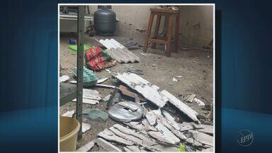 Casal fica ferido após explosão em casa no bairro Cohab, em Poços de Caldas (MG) - Casal fica ferido após explosão em casa no bairro Cohab, em Poços de Caldas (MG)
