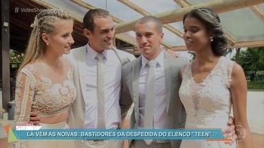 Casamento em dose dupla marca final de temporada em 'Malhação' - Ex-rivais Bárbara e Joana finalmente fizeram as pazes e subiram juntas ao altar em cerimônia que reuniu todo o elenco da novela