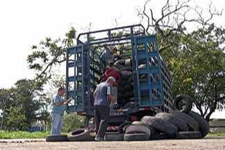 Ação da Prefeitura de Suzano recolhe 750 pneus velhos - Ação é para conscientizar população que tem lugar certo para descarte.