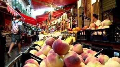 Sicília, famosa pela dieta mediterrânea, tem mercados de 1,2 mil anos - Os mercados históricos de Palermo são uma espécie de museu. Eles contam a história de uma cidade que recebeu muitas influências.
