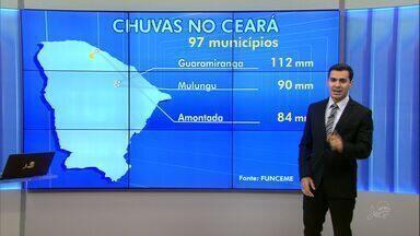 Ceará tem chuvas de até 110 milímetros nesta terça - No total, choveu em 97 das 184 cidades do estado.