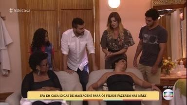 SPA das mães: confira dicas de massagens para os filhos fazerem nas mamães - Massoterapeuta ensina tratamento de beleza