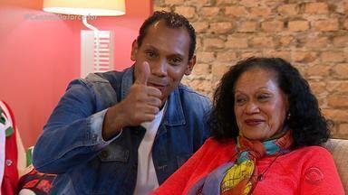 Mãe do comentarista Márcio Chagas deseja um feliz Dia das Mães - Dona Nomar é a mãe do ex-árbitro.