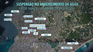 Abastecimento de água será interrompido em pelo menos 40 bairros de Salvador - A Embasa vai fazer uma manutenção na tubulação do Cabula que durará cerca de 12 horas.