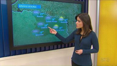 Meteorologia prevê mudança no tempo para o norte do estado - Estão previstas chuvas fortes e queda de temperatura nesta quinta-feira (18).