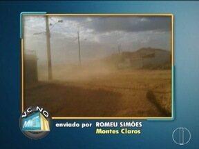 VC no MG: Moradores de Montes Claros e Januária enviam denúncias para o MG Inter TV - No Bairro Interlagos, morador reclama de poeira.