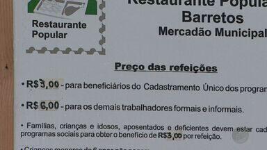 Moradores de Barretos reclamam do preço do almoço em restaurantes populares - Valor subiu de R$ 1,00 para R$ 3,00. Defensoria pública considera o reajuste abusivo, mas a Prefeitura afirma que não tem como baixar o valor.