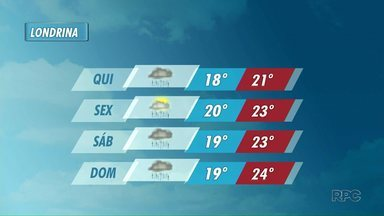 Tempo muda e pode trazer temporais para a região de Londrina - Chuva forte deve chegar pela parte da tarde.