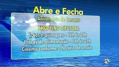 Confira o que abre e o que fecha no feriado de aniversário de 160 anos de Caruaru - Órgãos do governo do estado e prefeitura não funcionarão; já centros de compras atenderão em horários especiais.
