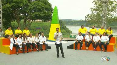 Paraná TV apresenta os onze participantes do Bem Verão 2017 - O programa desta sexta-feira, foi ao vivo, do Marco das Três Fronteiras.