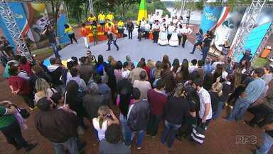Bastidores do programa Bem Estar movimenta Marco das Três Fronteiras - Várias pessoas trabalharam para montar toda a estrutura do programa.
