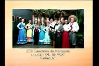 Agenda destaca o baile no CTG de Horizontina, RS - O baile à moda antiga será sábado 20h.