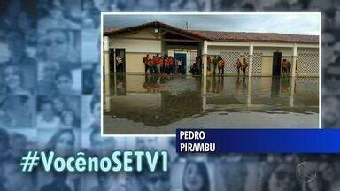 Chuva atingiu vários municípios sergipanos - Chuva atingiu vários municípios sergipanos.