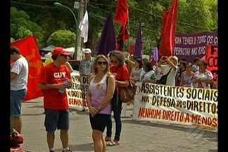 Manifestantes fizeram protestos contra o presidente Michel Temer, em Belém - Protestos ocorreram em várias cidades brasileiras.
