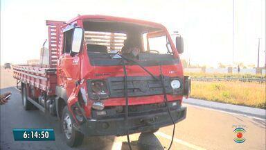 Motorista fica ferido após bater em jumento na BR-230 - Acidente foi registrado na madrugada desta terça-feira.