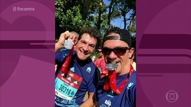 Daniel fala sobre a participação na meia maratona de Madri, na Espanha - Cantor diz que gosta de correr e de vez em quando se prepara para alguma prova