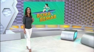 """""""Bora Remar"""": Viviane Costa intensifica os treinos no lago Paranoá - A prova da apresentadora na canoa havaiana será no próximo sábado."""