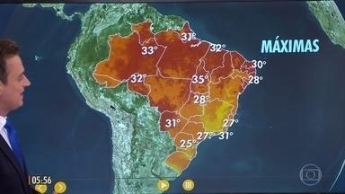 Confira a previsão do tempo para a sexta-feira (26) - Veja como fica o tempo em todo país.