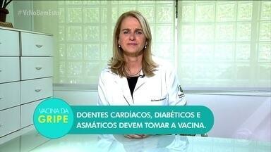 Quem tem doenças crônicas também deve tomar vacina contra a gripe - A infectologista Rosana Richtmann explica que doentes cardíacos, diabéticos e asmáticos devem tomar a vacina.