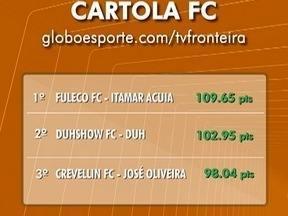 Confira como está o ranking do Cartola FC com o fim da rodada do Brasileirão - Fuleco FC lidera a Liga do Globoesporte.com/TV Fronteira.