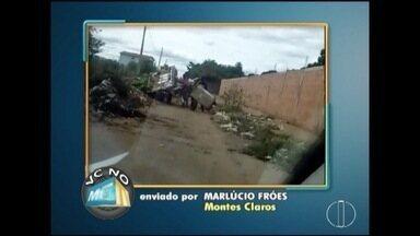 VC no MG: Morador denuncia descarte irregular de lixo em Montes Claros - Moradores de Curvelo também enviaram denúncias.