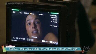 Veja os bastidores da cena eletrizante do parto de Ritinha - Personagem de Ísis Valverde na novela 'A Força do Querer' deu à luz dentro de um táxi no meio de um tiroteio