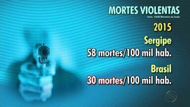 Sergipe é o estado mais violento do país, segundo o Ministério da Saúde - Sergipe é o estado mais violento do país, segundo o Ministério da Saúde.