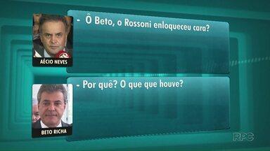 Grampos telefônicos de Aécio Neves, do PSDB, revelam bastidores da política paranaense - Aécio dá bronca no governador Beto Richa por causa de um vídeo publicado pelo secretário Valdir Rossoni.