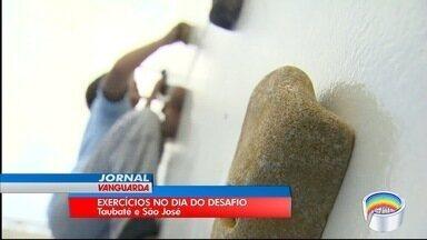 Dia do desafio colocou muita gente para praticar exercícios - Veja ação em São José e Taubaté.