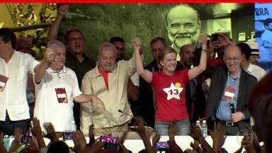 Senadora Gleisi Hoffmann é eleita presidente do PT - A senadora é ré em uma ação penal na Lava Jato junto com o marido, o ex-ministro Paulo Bernardo. Senadora substituirá Rui Falcão e tem mandato de 2 anos.