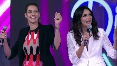 Ana Beatriz Barros e Fernanda Motta abrem o placar no 'Ding Dong' - Tops acertam a primeira música