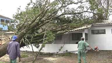 Em uma semana já choveu quase todo o esperado para o mês de junho em Londrina - Temporal de terça-feira à noite trouxe estragos para a região.