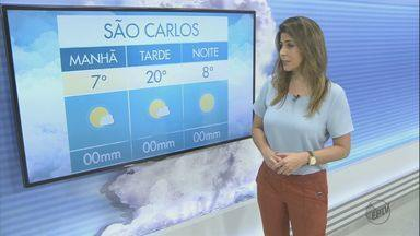 Confira a previsão do tempo para a região de São Carlos e Araraquara - Confira a previsão do tempo para a região de São Carlos e Araraquara