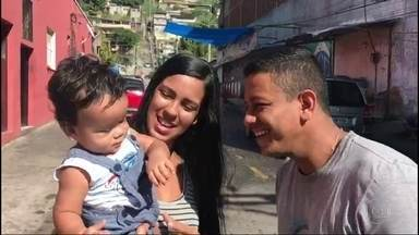 Família do Alemão precisa de ajuda para tratamento do filho de 1 ano - O menino Théo nasceu com um problema de formação nos nervos dos olhos e por conta disso ele não enxerga nada.