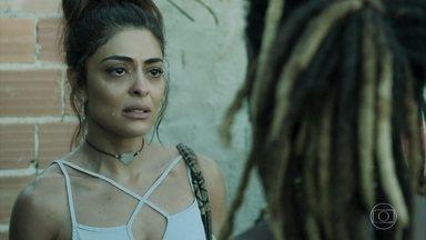 Bibi pede proteção para Rubinho ao chefão da favela - A estudante de Direito conhece o cara que manda na facção que está ameaçando seu marido na cadeia