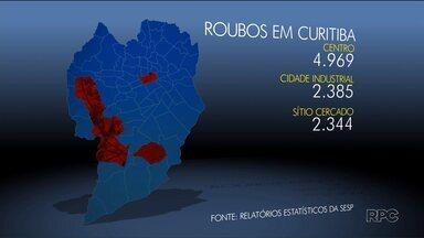 Centro é apontado como o bairro mais perigoso de Curitiba em 2016 - Por lá, foram registrados quase 5 mil roubos.