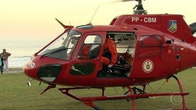 Piloto Leonardo sobrevive a queda de speed fly - Os bombeiros levaram mais de três horas para conseguir fazer o resgate