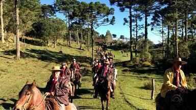 Grupo participa de cavalgada nos Aparados da Serra - Chegada aos cânions oferece uma vista de tirar o fôlego aos turistas.