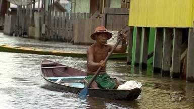 Cheias deixam 39 municípios em estado de emergência no Amazonas - Anamã, a 160 quilômetros de Manaus, foi invadida pelo Rio Solimões. Cidade está completamente alagada; é a mais afetada pela cheia.