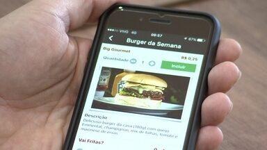 Aplicativo promete reduzir fila de clientes em restaurantes - O aplicativo habilita pedidos pra quem está até um quilômetro de distância. Estabelecimentos pagam mensalidades a partir de R$ 199.